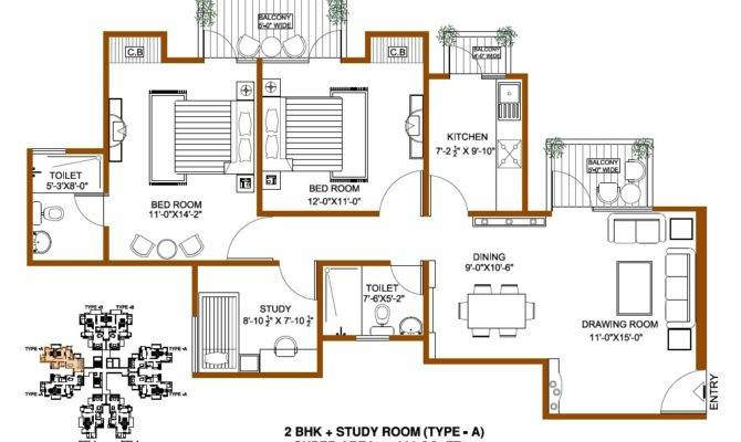 Square Foot Floor Plan Gurgaonresidential Project