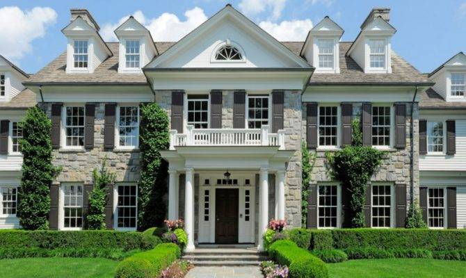 Square Foot Georgian Colonial Mansion Greenwich