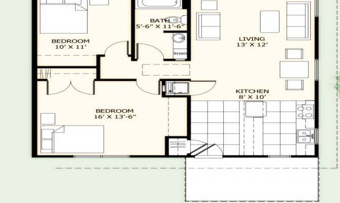 Square Foot House Plans Simple Two Bedroom