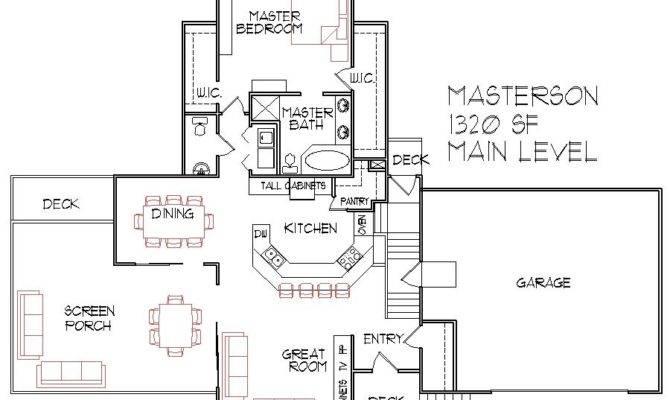Square Foot Split Level Floor Plan Bedroom Bath Car Garage