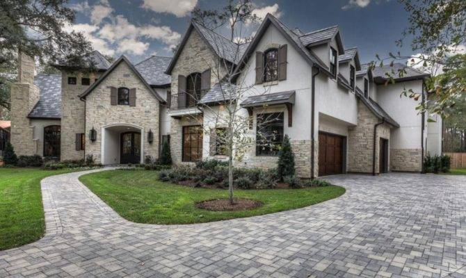 Square Foot Stone Stucco Mansion Houston