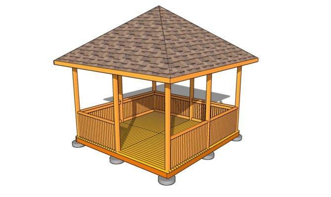 Square Gazebo Plans Rectangular Wood