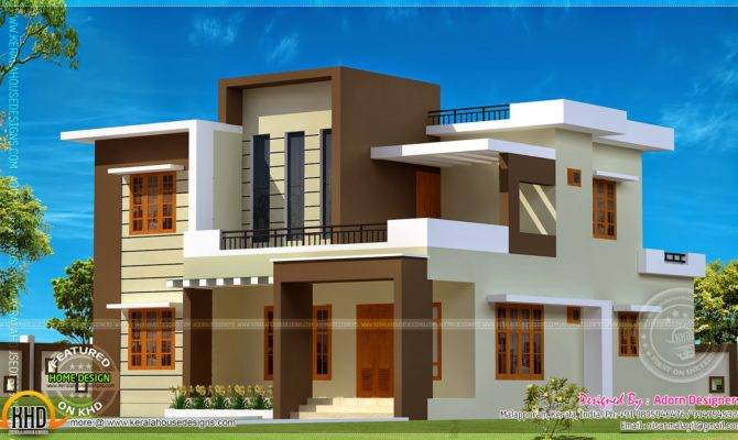 Square Meter Flat Roof House Kerala Home Design