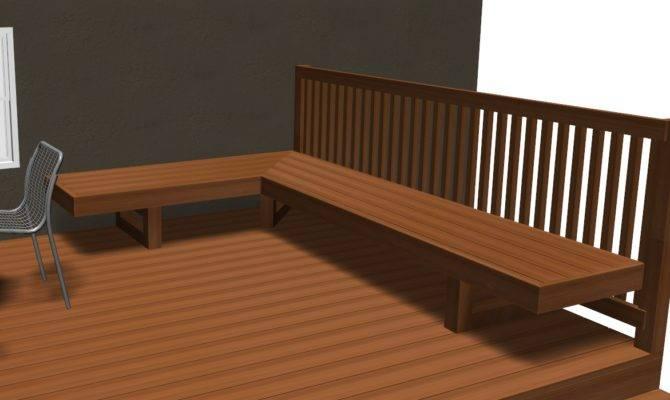 Standard Height Width Bench Deck Decks Fencing