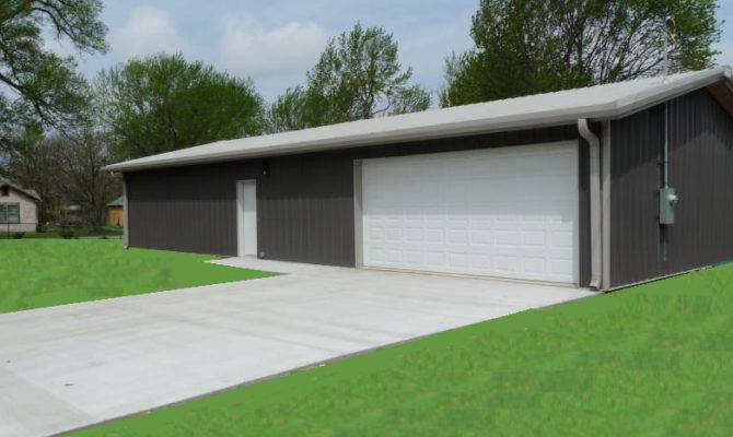 Steel Building Simpson Metal Kit Garage