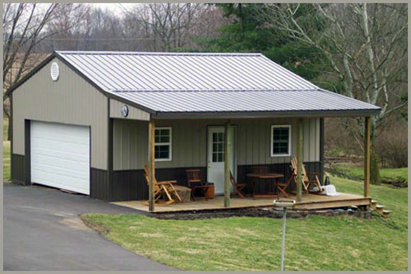 Steel Buildings Garage Port Front Carport Added
