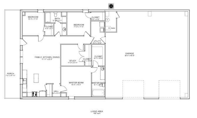 Steel Buildings Living Quarters Floor Plans