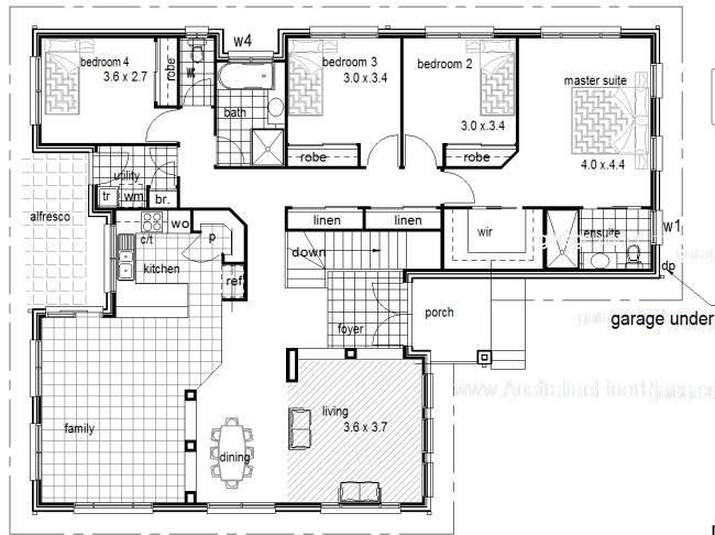 Steel Kit Homes Floor Plans Garage Under Sloping Land House Plan