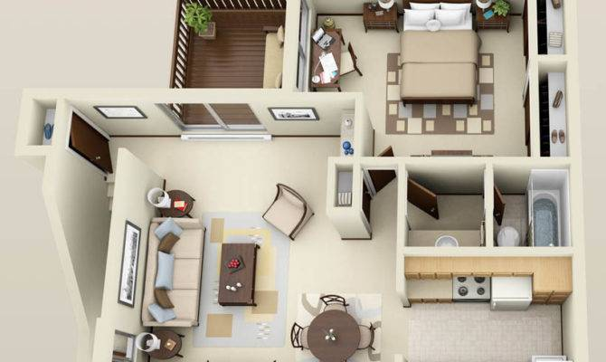 Stirring One Bedroom Apartment Floor Plans Pretty