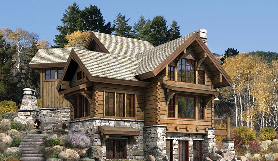 Stone Log House Plans Joy Studio Design Best
