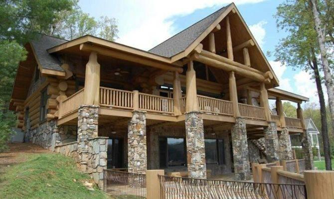 Stone Wood House Dream Plans Pinterest Houses
