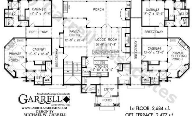 Stonecliff Quad Cabins House Plan Active Adult Plans