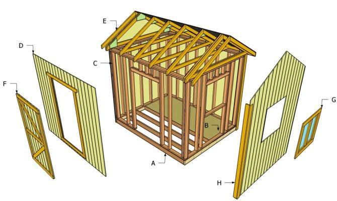 Storage Shed Building Plans Blueprints