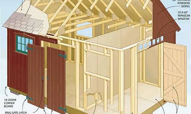 Storage Shed Plans Think Outside Cool Deisgn