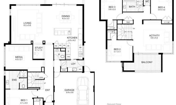Storey Modern Minimalist House Plan Home