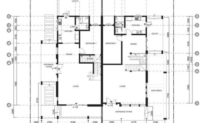 Storey Semi Detached House Plans Design