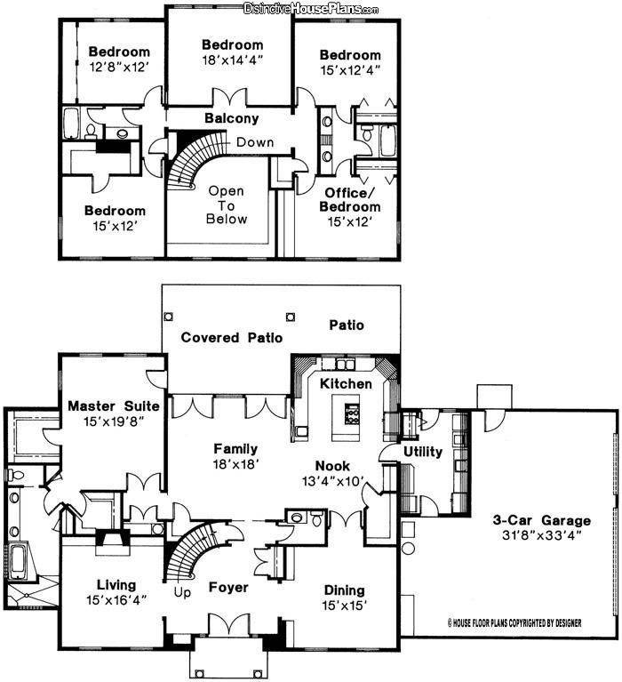 Story Bedroom Bath House Plans Awesome Best