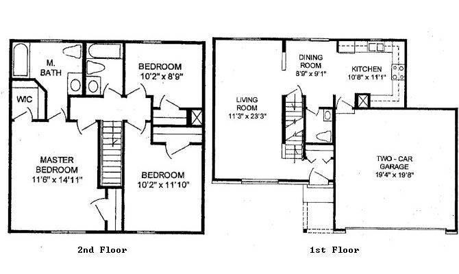 Story Bedroom House Floor Plans Home Design
