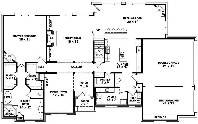 Story Bedroom House Plans