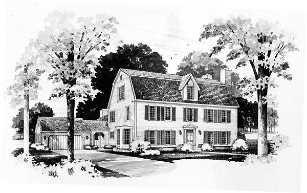 Story Colonial House Plan Favething