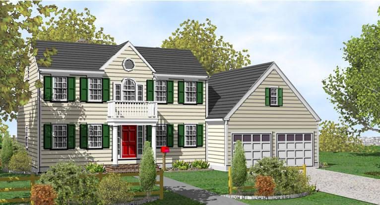 Story Colonial House Plans Sale Original Home