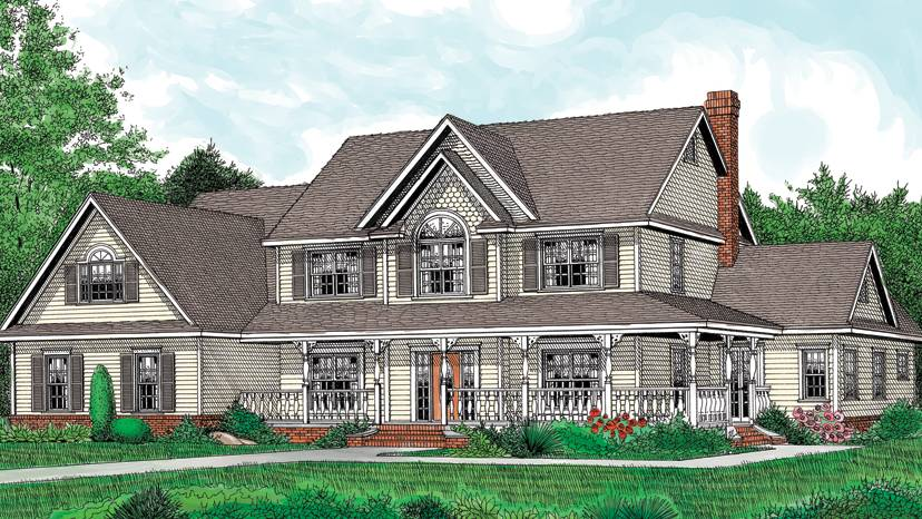 Story Country House Plans Home Deco