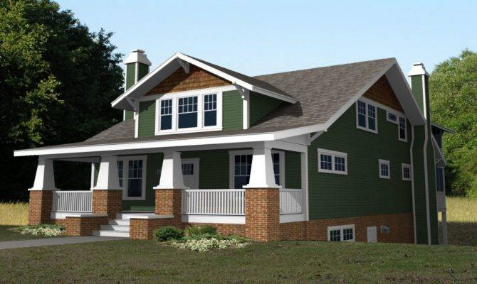 Story Craftsman Bungalow House Plans