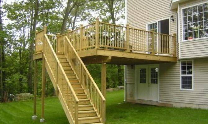 Story Deck Stairs Composite Decking Pvc Railings