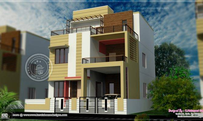 Story House Plan Design Feet Kerala Home