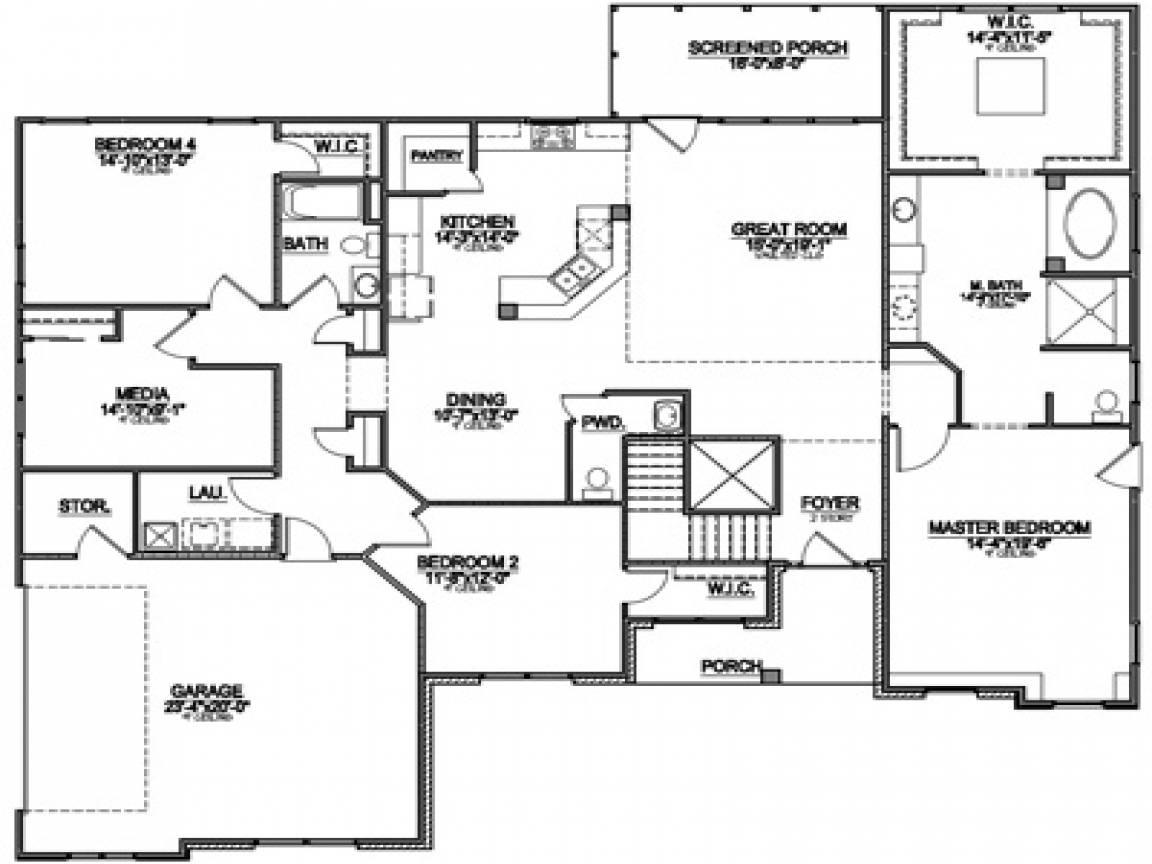 Story House Plans Elevator Modern Plan
