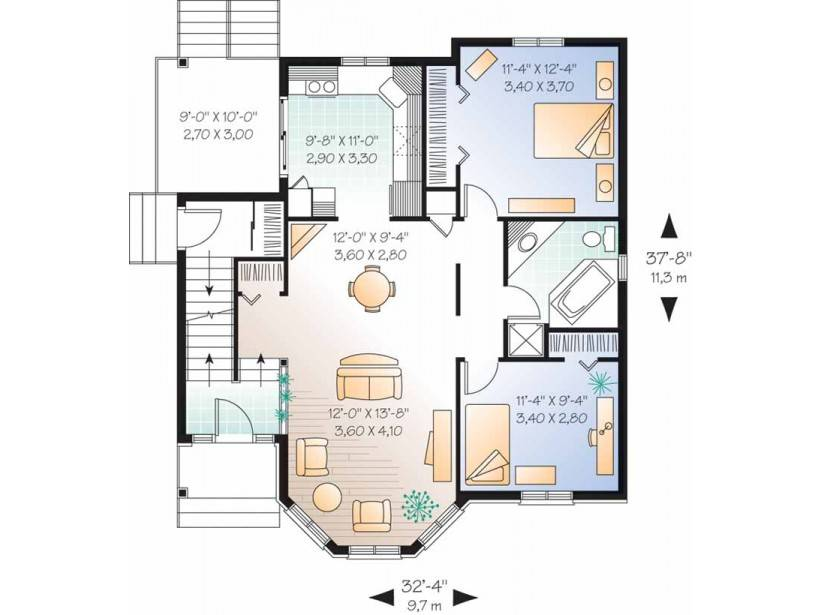 Story House Plans Eplans Victorian Ehouse Plan