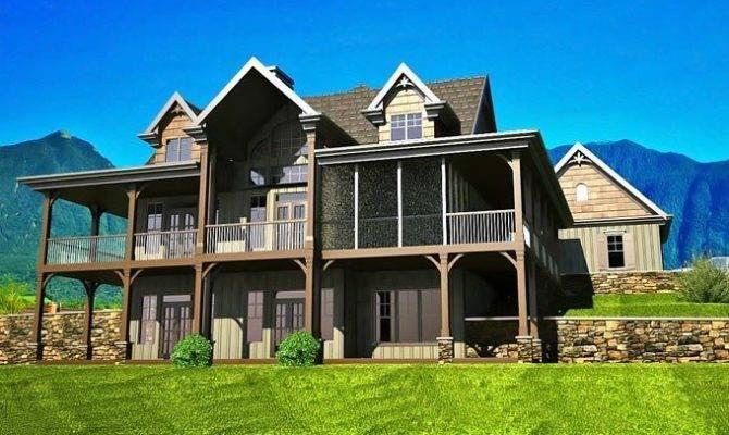 Story House Plans Walkout Basement Fresh Open Floor
