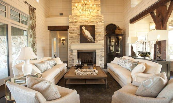Story Living Room Cottage Southern