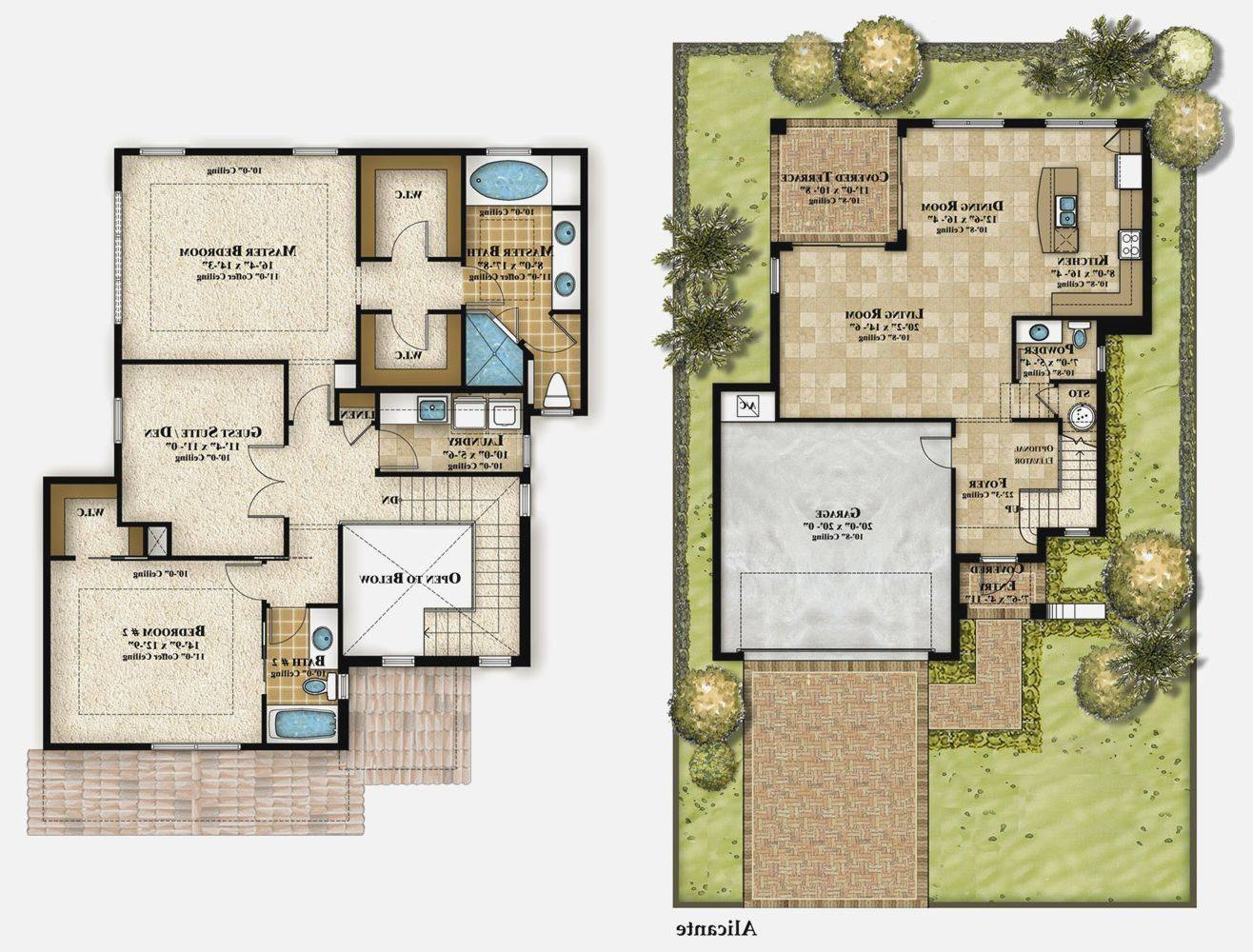Story Modern House Plans Home Designs Design