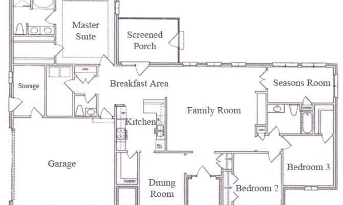 Story Ranch House Floor Plans Wood Floors
