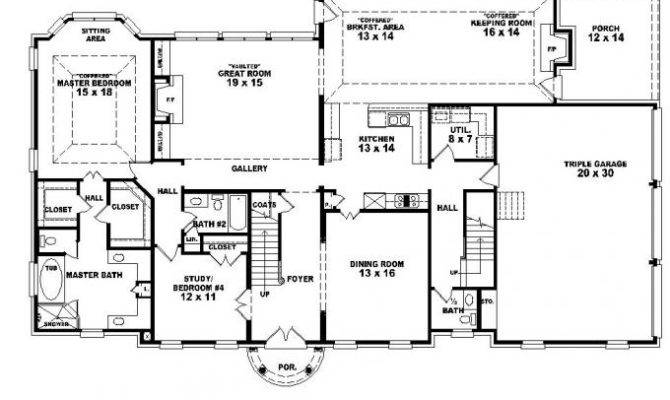 Story Traditional Luxury House Plan Bonus Room Plans