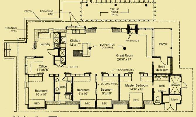 Straw Bale Passive Floor Plan