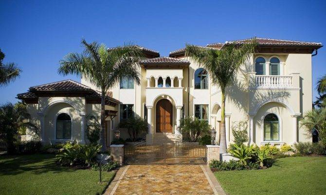 Stucco Houses House Plans Mediterranean