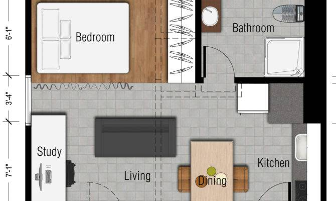 Studio Apartment Ideas House Design Plans