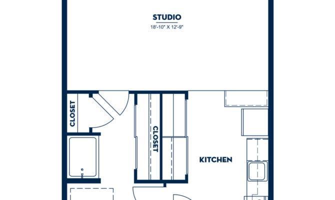 Studio Floor Plan Apartment