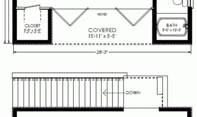 Studio Plan Modern Casita House One Bedroom