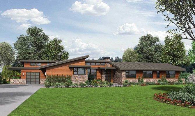 Stunning Contemporary Ranch Home Plan