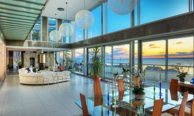 Stunning Modern Ocean Home Open Floor Plan Idesignarch