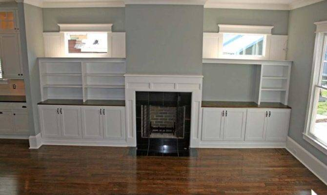 Style Built Cabinets Craftsman Fireplace Ins