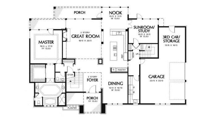 Style Floor Plan First House Plans More