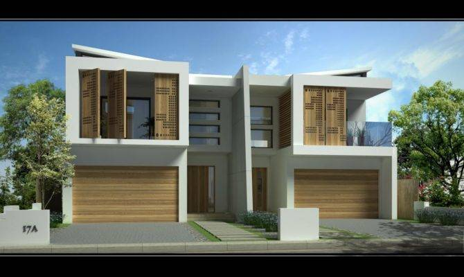 Style Ideas Garages Sandringham New Duplex Home