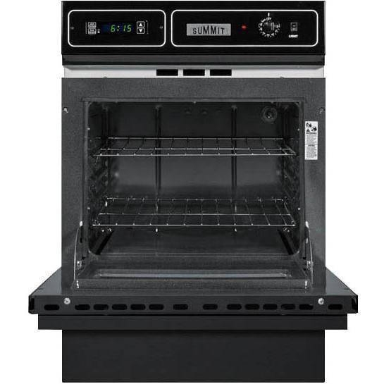 Summit Inch Built Electric Single Wall Oven Black
