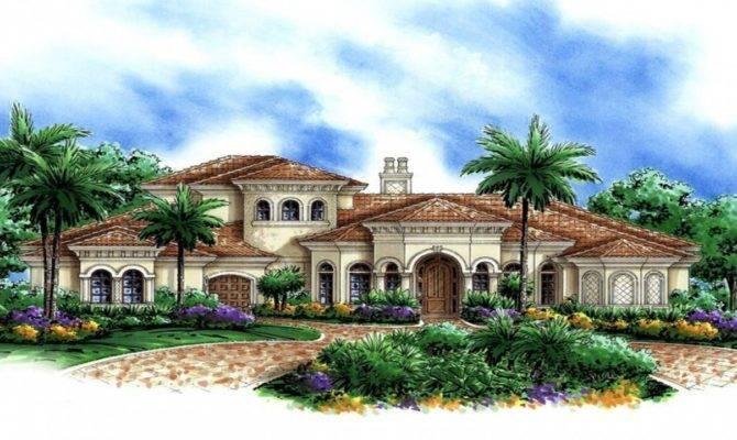 Super Luxury Mediterranean House Plans