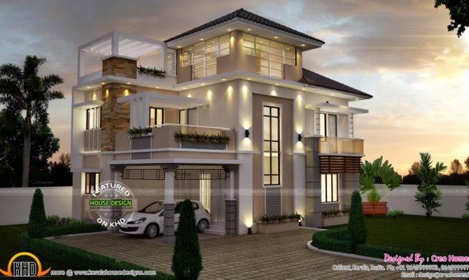 Super Stylish Contemporary House Kerala Home Design