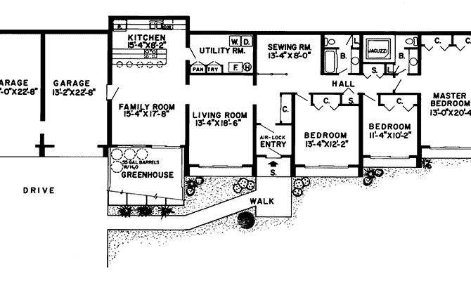 Superb Berm Home Plans Earth House Homes
